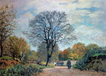 A Road in Seine-et-Marne, 1878 Postcards, Greetings Cards, Art Prints, Canvas, Framed Pictures, T-shirts & Wall Art by John Constable
