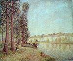The Loing at Moret, 1888 Poster Art Print by Alfred Sisley