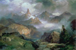 Index Peak, Yellowstone National Park, 1914 Wall Art & Canvas Prints by Thomas Moran