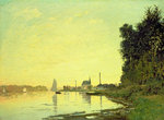 Argenteuil, at the End of the Afternoon, 1872 Fine Art Print by Claude Monet