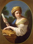 St. Cecilia (oil on canvas) Postcards, Greetings Cards, Art Prints, Canvas, Framed Pictures & Wall Art by Domenichino