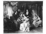 Signing the marriage contract at the solicitor's office, c.1840 Fine Art Print by Arthur A. Dixon