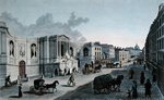 View of the Fountain on the Rue de Grenelle, Faubourg St. Germain, engraved by Grimberghen, c.1815-20 Fine Art Print by Philippe Benoist