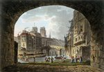 View of the Pont du Chatelet and Notre-Dame Cathedral, 1810 Fine Art Print by Philippe Benoist