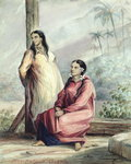 Two Tahitian Women, c.1841-48 Wall Art & Canvas Prints by Maximilien Radiguet