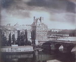 View of the Louvre and the Tuileries, c.1850 Fine Art Print by Etienne Bouhot