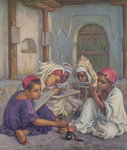 Writing Lesson in a Koranic School in an Algerian Village, 1918 Poster Art Print by Joseph Wright of Derby