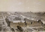 The Finished Louvre and the New Rue de Rivoli, engraved by Philippe Benoist Fine Art Print by French School