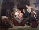Vaccination against smallpox, c.1800 Fine Art Print by William Henry Hunt