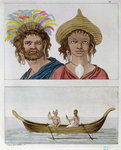 Inhabitants of Easter Island, from 'Le Costume Ancien et Moderne' by Jules Ferrario, c.1820 Fine Art Print by Felice Campi