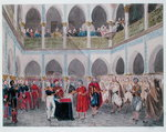 Investiture of the Bey of Algiers by Count Bertrand Clausel Fine Art Print by Theodore Leblanc