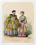 Chinese gentleman and lady, mid 19th century Fine Art Print by Chinese School