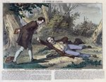 Troppmann poisons Jean Kinck in the forest of Wattwiller, 1869 Fine Art Print by French School