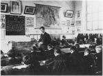 Class in a primary school, Orme, 2nd March 1909 Fine Art Print by Patricia Espir