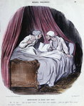 Cartoon about Marriage, mid nineteenth century Fine Art Print by George Adamson