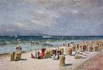On the Beach on Norderney Postcards, Greetings Cards, Art Prints, Canvas, Framed Pictures, T-shirts & Wall Art by Sir Lawrence Alma-Tadema