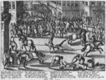 Execution of Francois Ravaillac, the assassin of King Henri IV, 1610 Fine Art Print by French School