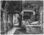 Cluny Hotel and Museum, room of Francois I, Paris, illustration from 'Atlas, Les Arts du Moyen Age...' by Alexandre du Sommerard Fine Art Print by Giovanni Paolo Pannini or Panini