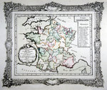 Map of the 24 French Universities, the Academies and other Literary Societies in France, 1766