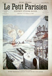 Four Japanese transport ships sunk in action off Port Arthur during the Russo-Japanese War, cover of 'Le Petit Parisien' magazine, 13 March, 1904