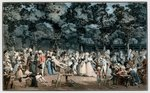 The Public Promenade, 1792 Fine Art Print by Carmontelle