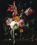 Still life of flowers, 1669 Fine Art Print by Balthasar van der Ast