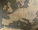 Terrestrial globe, detail: Europe, 1683 Fine Art Print by Guillaume Delisle