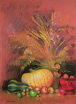 Autumn Harvest (pastel on paper) Wall Art & Canvas Prints by Claire Spencer