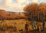 Pheasant Shooting Fine Art Print by Thomas Moran