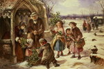 Christmas Morning, 1865 Fine Art Print by Linda Benton