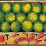 Green Oranges and Peaches, 1999 Fine Art Print by Peter Graham
