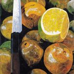 Oranges and Knife, 2003 Fine Art Print by Pedro Diego Alvarado