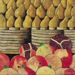 Pears and Pomegranates, 1999 Fine Art Print by William Henry Hunt