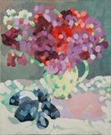 Sweet Peas and Seashells, 2006 (oil on canvas)