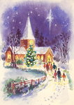 Midnight Mass (gouache) Postcards, Greetings Cards, Art Prints, Canvas, Framed Pictures, T-shirts & Wall Art by Nikolai Pimonenko