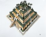 Artists impression of 'the Hanging Gardens of Babylon' Fine Art Print by Firyal Al-Adhamy