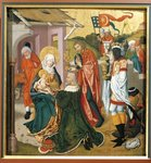 Adoration of the Magi, c.1475 (oil on canvas) Fine Art Print by Master of the Pala Sforzesca