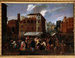 Market scene (oil on canvas) Wall Art & Canvas Prints by Flemish School