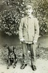 German soldier with a dog, 1914-18 Wall Art & Canvas Prints by German Photographer
