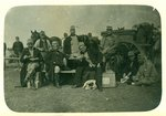 Group of German soldiers, 1914-18 Fine Art Print by German Photographer