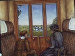 The Silly Cow after D.H.Lawrence's 'Sons and Lovers', (oil on canvas) Fine Art Print by Janet and Anne Johnstone