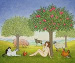 An Apple a Day. Triptych Part Three Poster Art Print by Swedish School