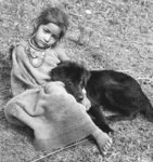 Girl and dog, Garhwal Fine Art Print by Maylee Christie