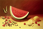 Watermelon (acrylic on panel) Fine Art Print by William Henry Hunt