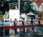Before the Press Stand, Henley (oil on canvas) Wall Art & Canvas Prints by English School