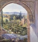 Alhambra Gardens Postcards, Greetings Cards, Art Prints, Canvas, Framed Pictures & Wall Art by Anthony Southcombe