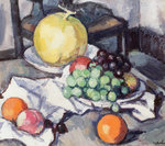 Still Life with Melons and Grapes Fine Art Print by William Henry Hunt
