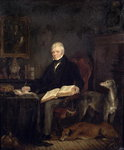 Portrait of Sir Walter Scott Fine Art Print by Juan Martin Cabezalero