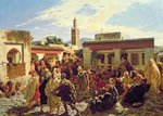 The Moroccan Storyteller, 1877 Wall Art & Canvas Prints by Ferdinand Victor Eugene Delacroix