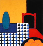 Still life with Red Chair, 2002 (acrylic on paper) Wall Art & Canvas Prints by Paul Serusier